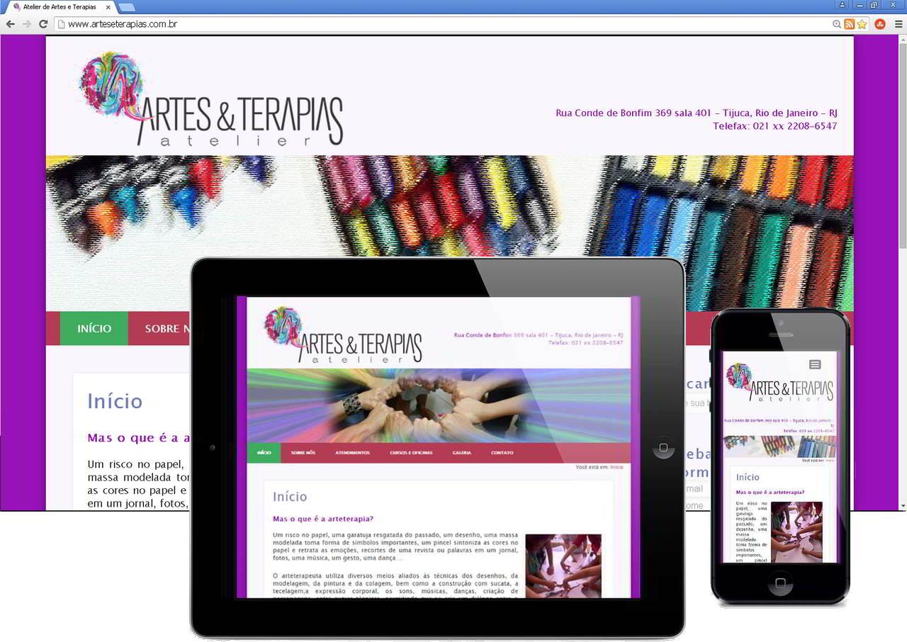 Novo Website Responsivo Artes e Terapias, após o REDESIGN