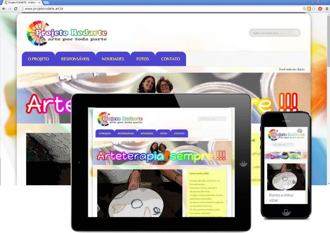 Website Responsivo Projeto RODARTE, após o REDESIGN