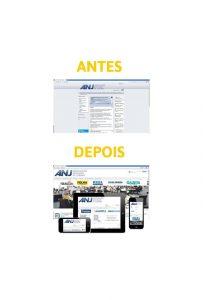 Redesign portal ANJ - Associação Nacional de Jornais, pela Em² Hipermídia
